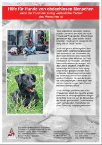 Flyer Hunde der Obdachlosen